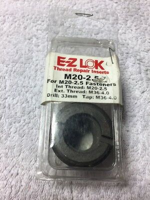 E-Z Lok Metric 1Pc Thread Repair Insert M20 x 2.5