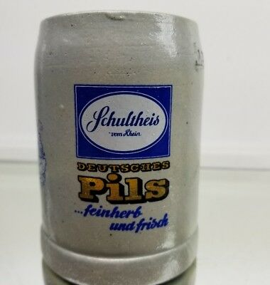 Schultheis Deutsches Pils Ceramic German Beer Mug / Stein