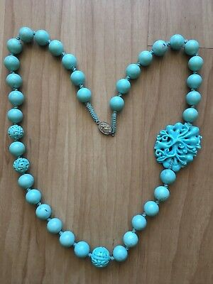 Strand of  Antique Chinese Turquoise Beads Necklace -