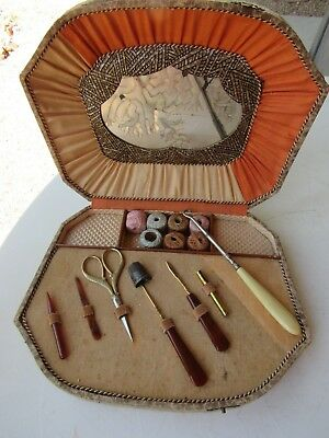 Antique Victorian German Sewing Kit AWESOME!!!