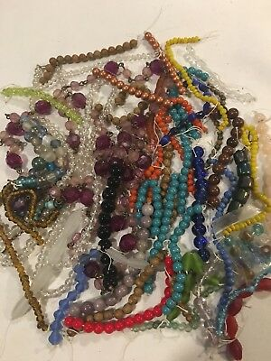 Huge Lot Of Vintage To Now Glass & Crystal Beads Lot #5