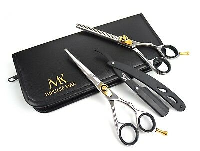 "6"" Salon Professional Barber Haircutting Thinning Scissor Hairdressing Shear Set"