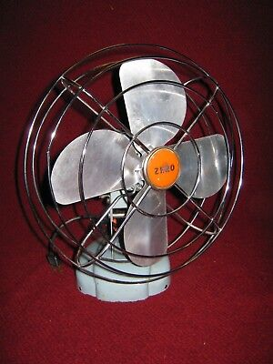Vintage ZERO Table or Wall Mount Fan Retro Model 10498 Made in USA