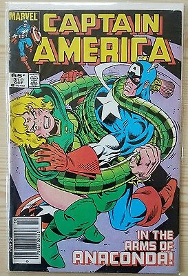 Captain America #310 - 1st Appearance of Serpent Society Diamondback - Newsstand