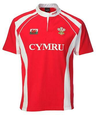 Haka Cotton Contrast Wales Rugby Shirt