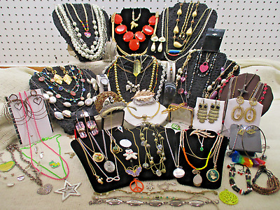 Vtg To Modern Massive 77 Piece Assorted Mixed Estate Costume Jewelry Lot Lb A38