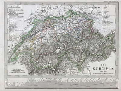 111406 GEOGRAPHY MAP ILLUSTRATED ANTIQUE STIELER Decor WALL PRINT POSTER AU