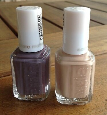 NEW LOT OF 2 FULL-SIZE Essie NAIL / POLISH IN CASHMERE MATTE FINISH NUDE  PURPLE