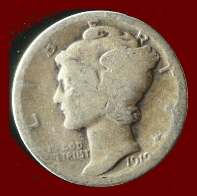 1919-P Mercury 90% Silver Dime Ships Free. Buy 5 for $2 off