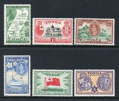 Tonga 1951 KGVI Treaty of Friendship set SG 95-100 mint