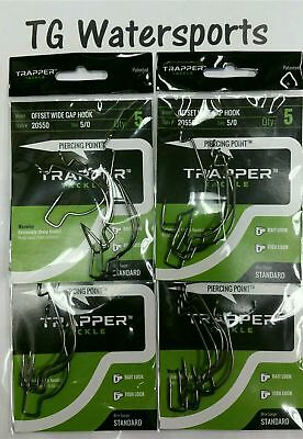 Lot of 2 Trapper Tackle 2//0 Qty 12 20620 Offset Wide Fishing Hooks #0140