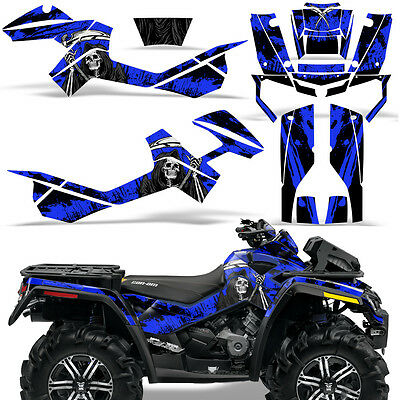 Graphic Kit Can-Am Outlander MAX/XMR 500/650/800 Quad Decal Wrap 06-12 REAP BLUE