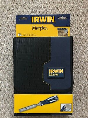 Irwin Marples MS750 Chisel Set Of 5 Pieces High Impact Split Proof Soft Touch