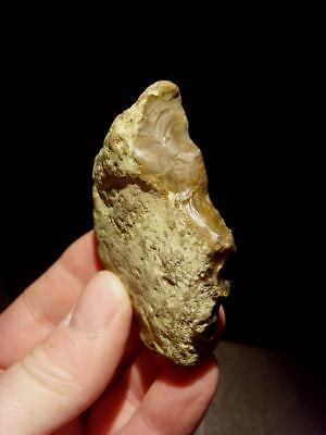 Lower Palaeolithic - Acheulean denticulated point -  Rare UK C.350,000+ BP