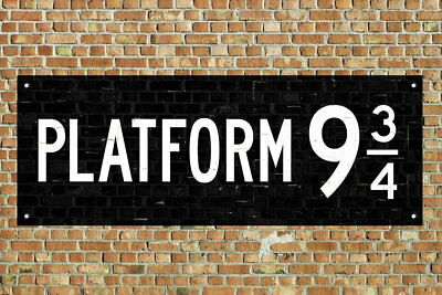 107886 Train Platform 9 King Cross London Movie Decor WALL PRINT POSTER CA