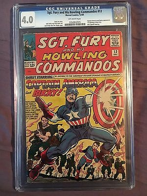 Sgt. Fury and his Howling Commandos #13 CGC 4.0