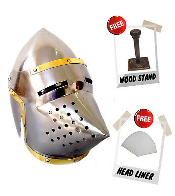 Greek Corinthian Armor Helmet ~ Antique Finish ~ Medieval Knight Crusader Armer