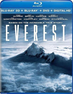 Everest: 3-Disc Combo Pack, 2016, Blu-ray 3D + Blu-Ray + DVD + Digital HD, New,