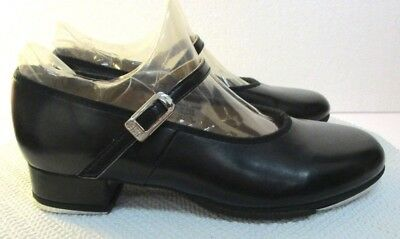 Bloch Size 1 Youth  Girls Black Buckle Leather Tap Shoes