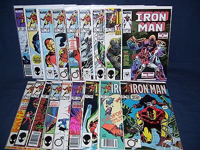 The Invincible Iron Man #183 - #200 with Bag and Board