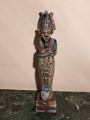 Rare Antique Ancient Egyptian Statue God Osiris w Vase Sacrifice 1840-1750BC