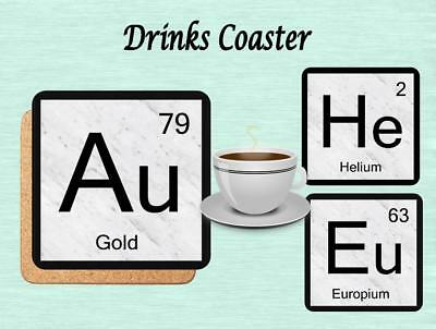 Periodic Table Element Drinks Coaster