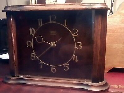 Stunning Smiths Sectric Mantle Clock . Working Order.