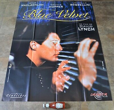 BLUE VELVET Movie Poster - MASSIVE - David Lynch - French - Twin Peaks - NEW