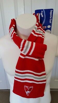 Sydney Swans - Afl Scarf With Built In Loop Hole