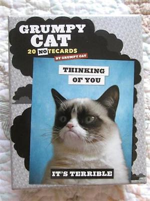 GRUMPY CAT Funny Humorous Insulting Greeting Note Cards, 5 Designs, Set of 20