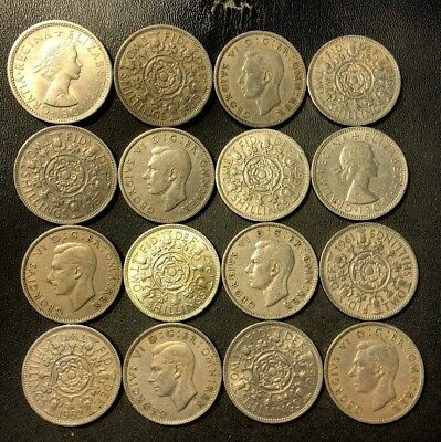 Vintage Great Britain Coin Lot - 16 EXCELLENT FLORINS - Lot #621