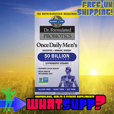 GARDEN OF LIFE Dr Formulated PROBIOTICS (50 Billion) Once Daily Men's 30 veg cap