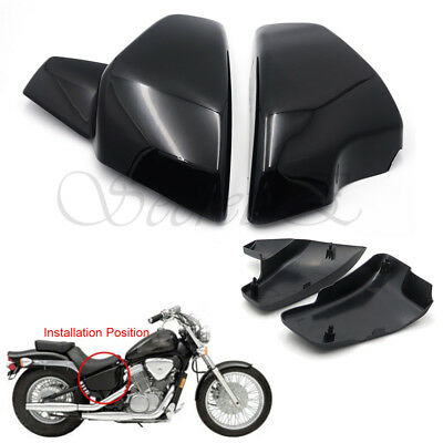 Gloss Black Battery Side Covers Fit Honda VT 600 C CD Shadow VLX Deluxe 1999-200