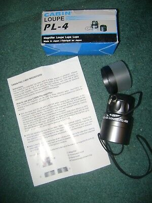 Cabin Loupe Pl - 4M  With Box   Cabin Pro Magnifier Loupe  Made In Japan   Nice