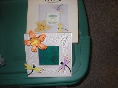 """Sonoma Kohl's Picture Frame 3 1/2 x 3 1/2""""Dragonfly New"""