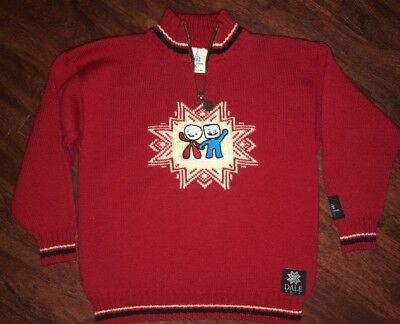 Vtg Dale Host Wool Torino 2006 Olympic Sweater Kids 8 Of Norway