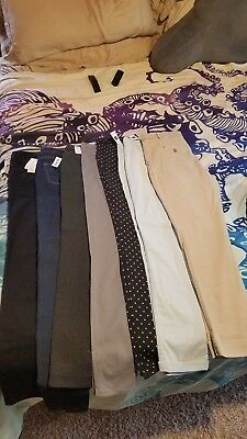 NWT 7 pc lot - size 10 Tall - SKINNY ankle pants Gap - Old Navy - Dickies