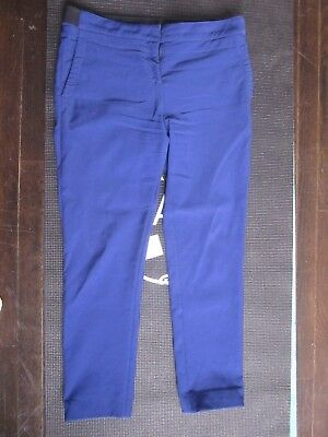 PROENZA SCHOULER Blue Stretch Wool Viscose Straight Leg Pants Trousers 8 32/28