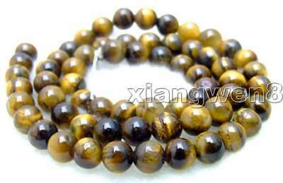 """SALE Small 6mm Round natural Tiger's-eye gemstone Beads strand 15""""-los496"""