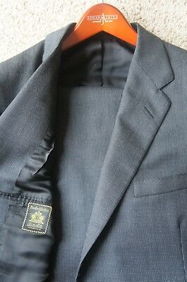 Recent Oxxford Clothes Charcoal Gray Birdseye 2 Btn Super 100's Suit 44 R $4575