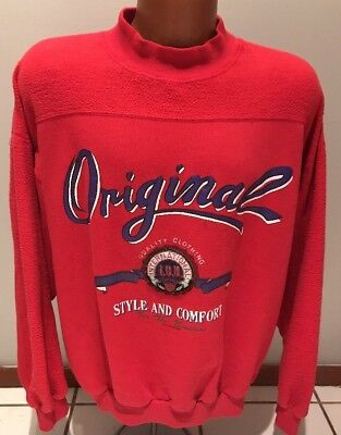 Vintage 90s IOU 1990 Authentic Design Inside Out Sweatshirt XL I.O.U.