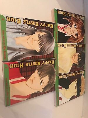 Happy Hustle High 1-5 Full Set, Lot of 5 Shojo Manga, 16+, English, Rie Takada