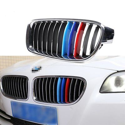 Car Grille Insert Trims for BMW 3 series E90 2009-12 M Color Plastic Strip Cover