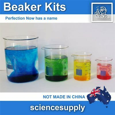Beaker Kits borosilicate 50 100 250 500 1000 2000 Kits  Fast Shipping from OZ
