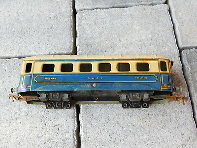 à RESTAURER vintage ancien WAGON JEP made france de TRAIN PULLMAN SNCF tin TOYS