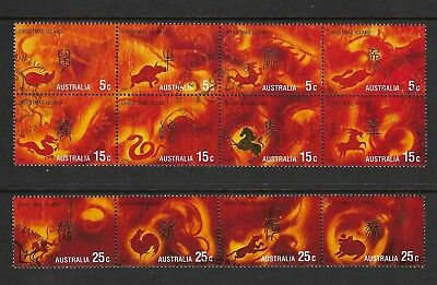 CHRISTMAS ISLAND 2002 Year of the Horse, set of 12, used, first day cancel