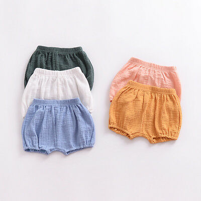 Baby Girl Boy Toddler Kids Shorts PP Pants Diaper Nappy Cover Bloomers Trousers