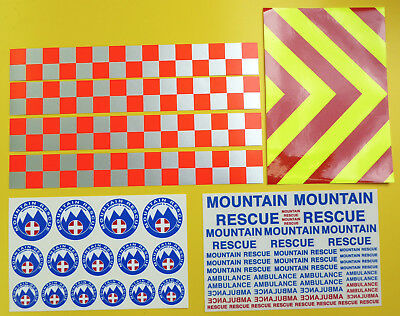RC Rock Crawler 'MOUNTAIN RESCUE' 4x4 10th scale stickers decals RC4WD D90