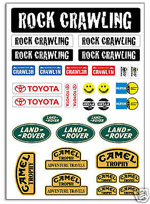 RC Rock Crawling stickers decals Tamiya HPI Losi Axial