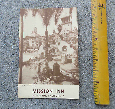 Original Nov 27  1954 Mission Inn Riverside California Menu